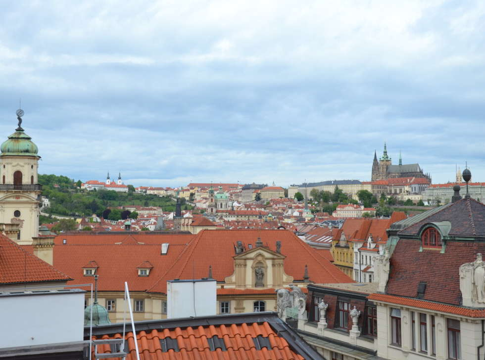 view from hotel rott prague